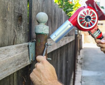 Rusted-on bolts are easy to manage when using a heat gun